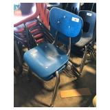 (3) Light Blue Student Chairs