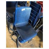 (3) Blue Student Chairs