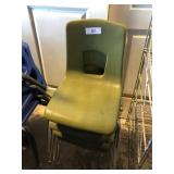 (4) Small Green Student Chairs