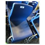 (4) Blue Student Chairs
