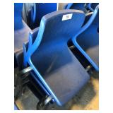 (4) Small Blue Student Chairs