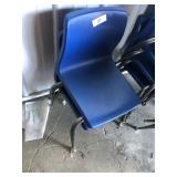(2) Small Blue Student Chairs