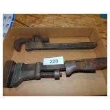(2) Wrenches (1 marked Walworth)