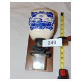 Wall Mount Delftware Coffee Grinder