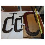 (3) C-Clamps (Large 1 is Wilton)