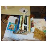 Assorted Books, Envelopes, Stamps
