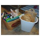 Trash Can, Brown Paper Sacks, Gift Bags