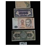 (4) Foreign Paper Currency 1954 Mexico, 1964