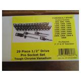 "Powerbuilt 29pc. 1/2"" Drive Socket Set (Metric)"