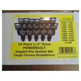 "Powerbuilt 19pc. 1/2"" Drive Impact Pro Socket Set"