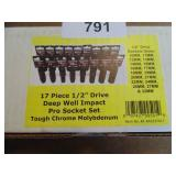 "Powerbuilt 17pc. 1/2"" Drive Deep Impact Socket Set"