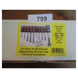 Powerbuilt 10pc. Ratcheting Wrench Set