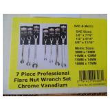 Powerbuilt 7pc. Flare Nut Wrench Set