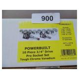 "Powerbuilt 10pc. 3/4"" Drive Socket Set (Standard)"