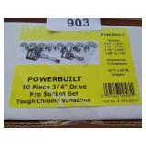 "Powerbuilt 10pc. 3/4"" Drive Socket Set"