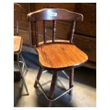 Wooden Bar Stool (Missing 1 Spindle)