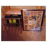 Metal Magazine Rack, Picture Frame, Etc.