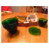 Green Serving Dishes, Bowls, Etc.