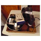 Stainless Steel Mixing Bowl, Coffee Grinder, Etc.