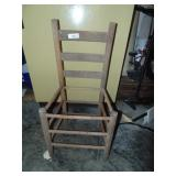Wooden Ladder Back Chair - No Seat