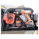 Black & Decker 12V Storm Drill, Charger, Batteries