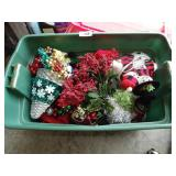 Christmas Decorations in Tote