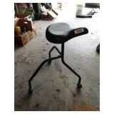 Bicycle Seat Rolling Work Stool