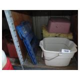 Blue Folding Step Stool, Bucket, Insulation, Tote