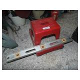 Rolling Shop Stool, Metal Level