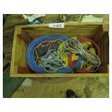 Wood Box w/ Assorted Colored Wire