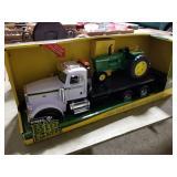John Deere Ertl 4020 Tractor w/ Peterbilt 367