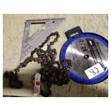 Saw blade, Square & Chain saw chain