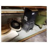 Fan, outdoor light & Craftsman vac