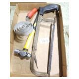 Ball pein hammer/ hack saw/ horse brush
