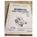 Kubota Zero turn ZD18F,ZD21F, ZD25F, ZD28F