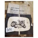 John Deere 38 rotary mower manual