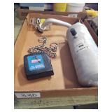 Tape measure, rivets & Chocker chain