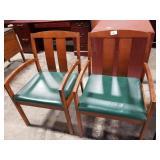 2 Vinyl Seat Kimball Chairs