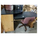 "24"" wide x 63"" long Desk with Office Chair"