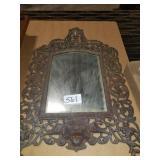VIntage ornate iron Beveled Mirror