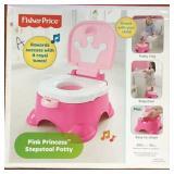 Fisher Price Pink Princess Stepstool Potty (A)