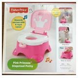 Fisher Price Pink Princess Stepstool Potty (B)