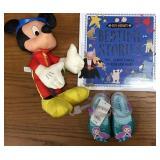 Bedtime Stories Book, Mickey, Mermaid Sandals