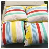 Lot of 4 Outdoor Pillows