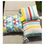Lot of 3 Outdoor Pillows