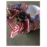 Basket Full of USA Flags