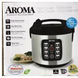 Aroma 8-Cup Stainless Steel Digital Rice Lot A