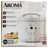 Aroma 8-Cup Stainless Steel Digital Rice Lot B