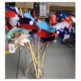 Pinwheel Lot With Vase Lot of 9
