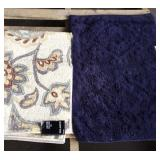 Accent Rugs Paisley Floral & Navy